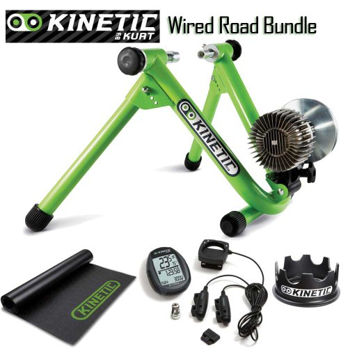 Kinetic Roadmachine Fluid Trainer With Wired Power Computer, Rising Ring, Floor Mat