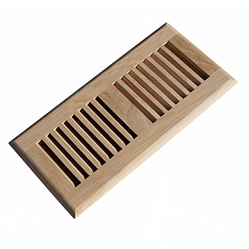 WELLAND® Hardwood Self Rimming Floor Register Vent Unfinished, 6 inch x 12 inch, White Oak (Heat Register Cover Oak compare prices)