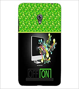PrintDhaba Abstract Image D-4258 Back Case Cover for ASUS ZENFONE 6 A601CG (Multi-Coloured)