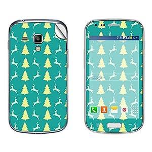 Skintice Designer Mobile Skin Sticker for Samsung Galaxy S Duos 2 S7582, Design - Christmas Tree