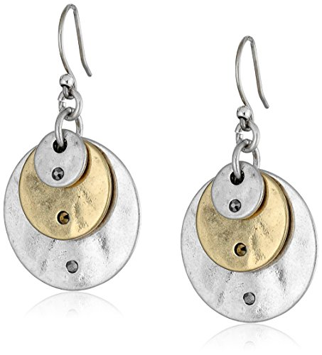 Lucky Brand Two Tone Disk Earrings