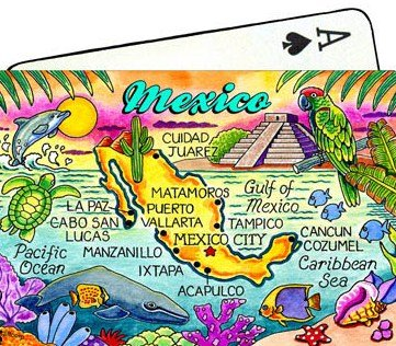 Mexico Map Collectible Souvenir Playing Cards - 1