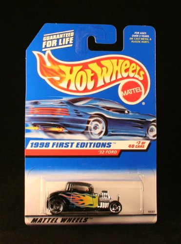'32 FORD * BLACK * 1998 FIRST EDITIONS SERIES #7 of 40 HOT WHEELS Basic Car 1:64 Scale Series * Collector #636 * - 1