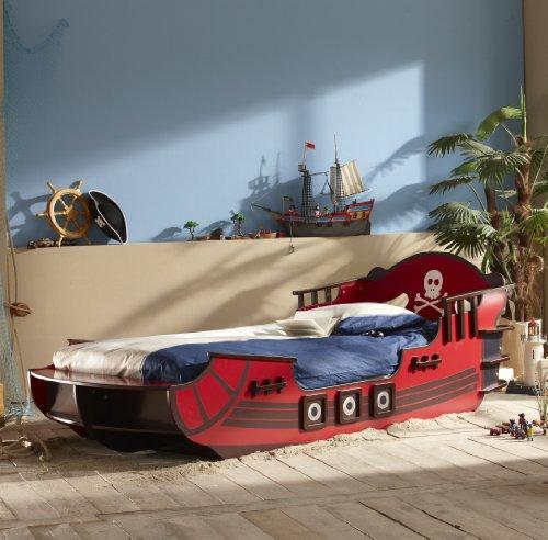 kinderbett piratenschiff seer uber piraten boot bett rot. Black Bedroom Furniture Sets. Home Design Ideas