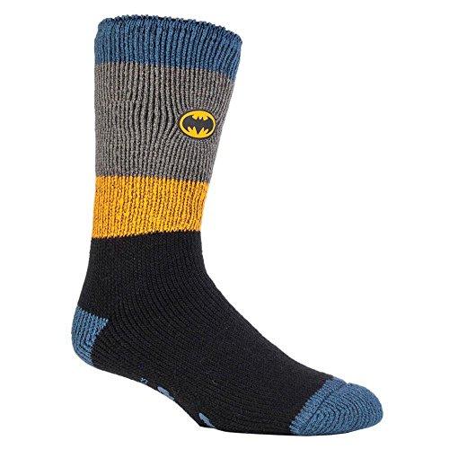 Heat Holders - Uomo e ragazzi Marvel calzini antiscivolo termici in 4 disegni (39-45 Eur, 6-11 UK, Batman)