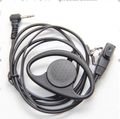 D Shape Earpiece Headset Ptt For Motorola Two Way Radio Walkie Talkie 1Pin