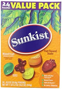 Fruit Shapes Snacks, Mixed Fruit, 19.2 Ounce (Pack of 3)