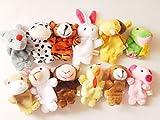 Star Room 12支 指人形セット フィンガー パペット 動物 子ども 保育園 幼稚園 家庭 で(12個)