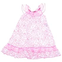 Laura Dare Whimsical Pink Floral Nightgown for Toddler Girls 3T