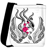 Snoogg abstract fairy with red flowers Womens Carry Around Cross Body Tote Handbag Sling Bags