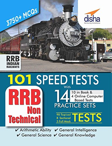 101 Speed Tests (Topic-wise) with 14 Practice Sets (10 in book & 4 Online CBT) for RRB Non Technical Exam