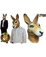 ZooBoo Creepy Kangaroo full head Mask Halloween Costume