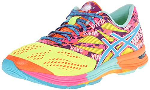 ASICS Women's Gel-Noosa Tri¿ 10 Flash Yellow/TURQ/Flash Pink 9 B - Medium