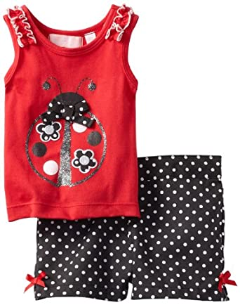 Kids Headquarters Baby-Girls Infant Top, Red, 24 Months