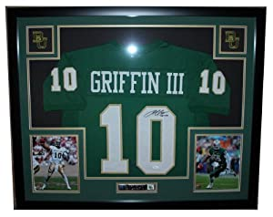 Robert Griffin RG III Autographed Signed and Framed Green Baylor Jersey Auto JSA... by Premier+Sports+Collectibles