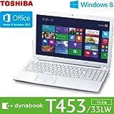 東芝 dynabook T453/33LW [Office付き] (ホワイト) PT45333LSXW