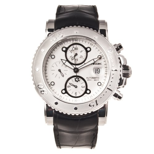 Montblanc Sport Automatic Chronograph Silver Dial Mens Watch 104280