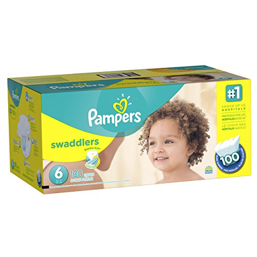 Pampers Swaddlers Diaper Size 6 Economy Pack Plus 100 Count (Packaging May Vary)