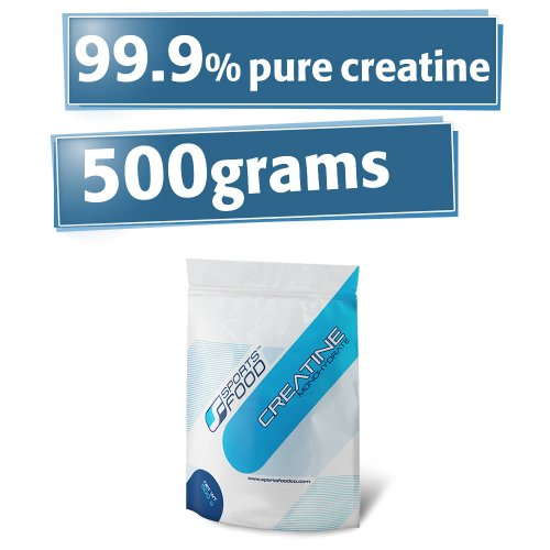 Creatine Monohydrate Powder - 500G (1.1Lbs), Fast Absorption & Effect, 99.9% Purity, Support Muscular Growth