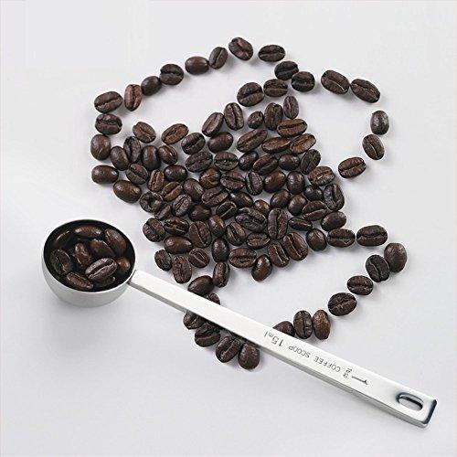 Viawow Endurance Metal Stainless Steel 1 Tablespoon Measuring Coffee Scoop Spoon, Set of 5