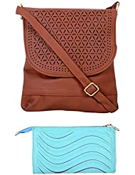 SRI Imported Fancy Designer Combo Of Handbag With Clutch For Girls And Women(Clutch Colour May Vary)(Clutch Colour...