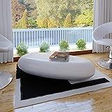 vidaXL Table basse blanc fibre de verre...