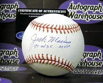 Jack Morris autographed Baseball inscribed 1991 WSC MVP (Minnesota Twins World Series Champion) AW Certificate of Authenticity