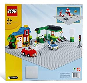 "LEGO® Base Extra Large Building Plate 15"" x 15"" Platform - Gray 