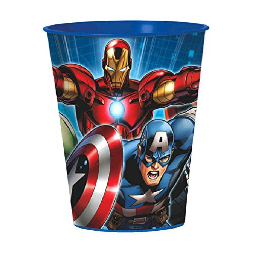 16oz Marvel Avenger Superhero Party Plastic Loot Treat Favor Keepsake cups (4) (Avengers Party Favours)
