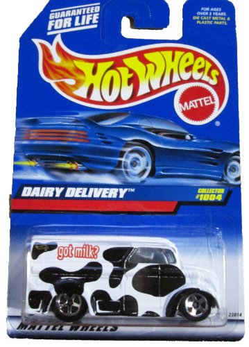 Mattel Hot Wheels 1999 1:64 Scale Black & White Dairy Delivery Die Cast Car Collector #1004