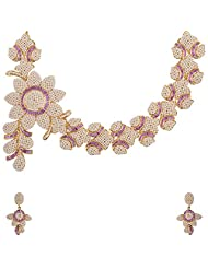 Ashapura Gold Plated Necklace With Dangle & Drop Earrings For Women - N01116