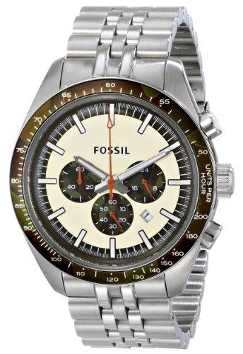 Fossil CH2913 - Reloj con correa de poliuretano para hombre, color blanco / gris