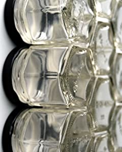 DIY HEX 24 BLACK: Magnetic Spice Rack (Includes 24 EMPTY Hexagonal Glass Jars, Magnetic... by Gneiss Spice