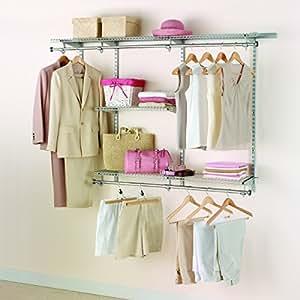 Rubbermaid Configurations Custom Closet Classic Kit, Titanium, 3-6 Foot, FG3H1102TITNM
