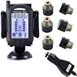 TireTech On TP7002 Wireless Tire Pressure Monitoring System w/ 6 Brass Transmitters 0-232 psi