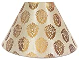 "10"" Round Cream with Golden Designer Lamp Shade for Table Lamp"