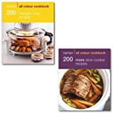 Hamlyn All Colour Cookbook 2 Books Collection set pack (Hamlyn All Colour Cookbook 200 More Slow Cooker Recipes, Hamlyn All Colour Cookbook 200 Halogen Oven Recipes)