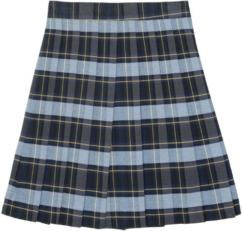 French Toast School Uniforms Plaid Pleated Skirt Girls blue gold plaid 18
