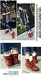 (プチプライム) Petit Prime レディース シューズ 靴 ブーツ ショートブーツ キャンバススニーカー レースアップ カジュアル シークレットブーツ 美脚 編み上げ ふわふわ あったか 秋 冬 ブラック ブラウン レッド グレー 人気 (22.5cm, ブラウン)