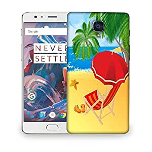 Snoogg tropical beach vector Designer Protective Back Case Cover For OnePlus 3