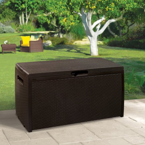 Keter 70 Gallon Rattan Deck Box