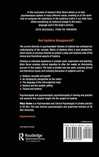 Matrix of Hysteria: Psychoanalysis of the Struggle Between the Sexes Enacted in the Body