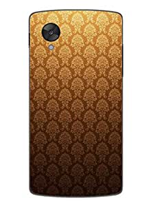Nexus 5 Cases & Covers - Gold Motifs Pattern - Designer Printed Hard Shell Case