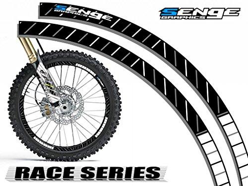 Senge Graphics Race Series White rim protector set for one 18 inch rim and one 21 inch rim (22 Rims White compare prices)