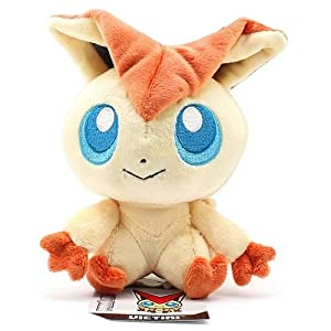 "Pokemon Center Black and White Pokedoll Plush Doll USA - 5"" Victini"