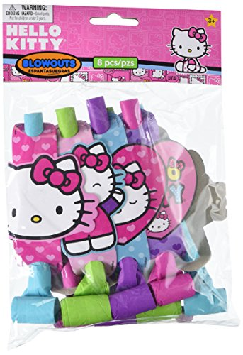 Amscan Hello Kitty Rainbow Blow Outs, Multicolor