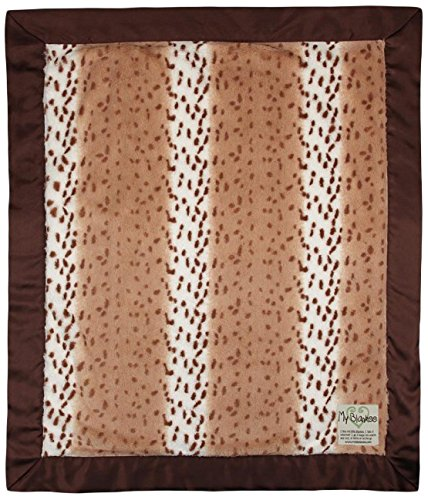 "My Blankee Luxe Baby Blanket, 30"" x 35"", Lynx Latte/White"