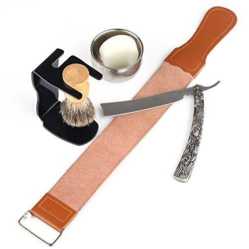 6-in-1-Mens-Barber-Shaving-Set-Straight-Razor-Shaving-Strap-Brush-Stand-Bowl-Soap