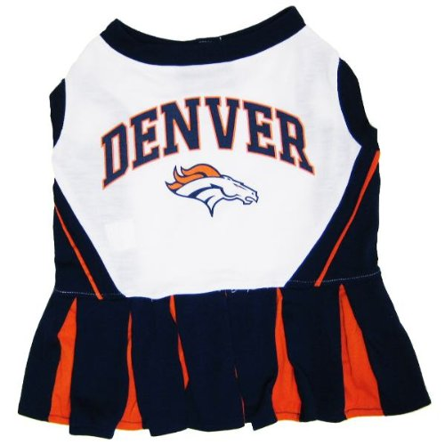 Denver Broncos Cheerleader Dog Dress Medium at Amazon.com