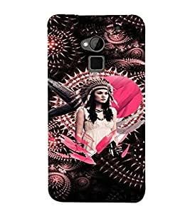 PrintVisa Stylish Cool Girl Tribal Pink 3D Hard Polycarbonate Designer Back Case Cover for HTC One Max